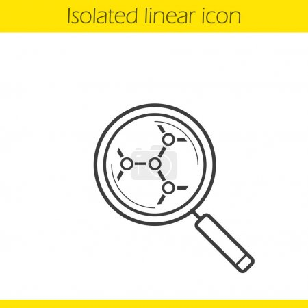 Molecular structure analysis linear icon