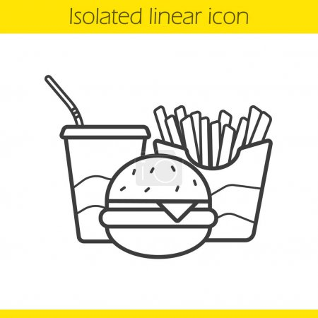 Fastfood linear icon