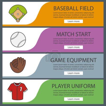 Baseball banner templates set