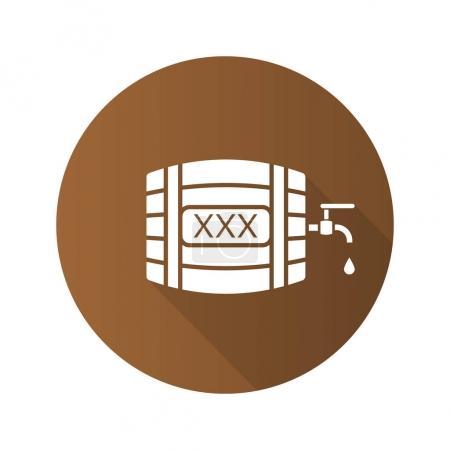 Alcohol wooden barrel.