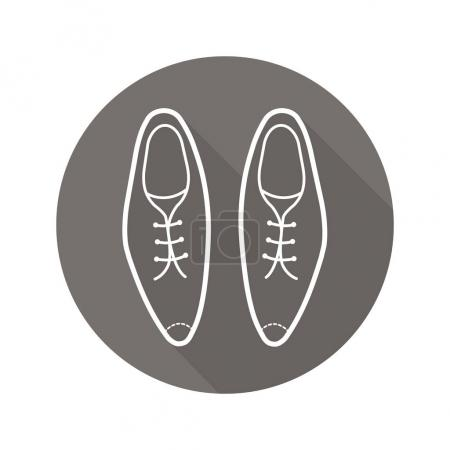 Men's shoes flat icon
