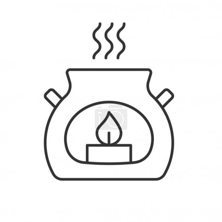 Spa salon candle linear icon