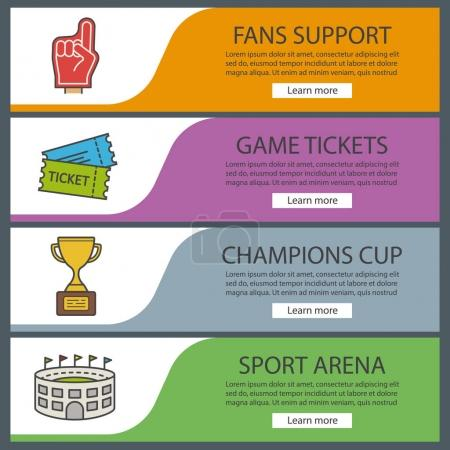 Sport game banner templates set