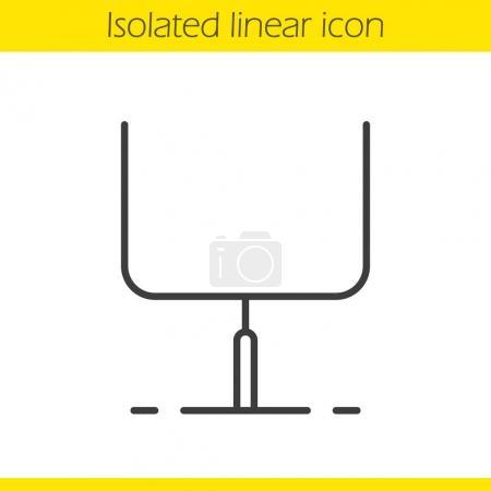 American football gates linear icon