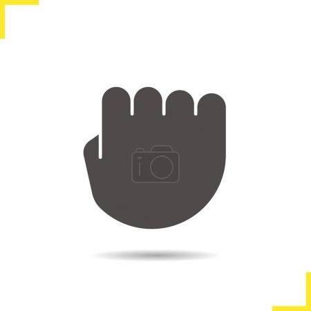 Squeezed fist icon