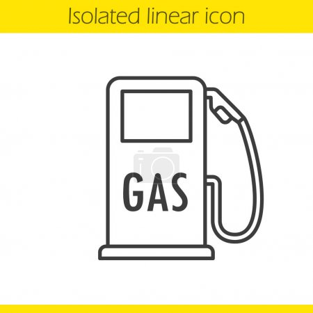Gas station linear icon