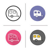 Camping trailer icons