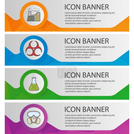 Chemical industry banner templates set