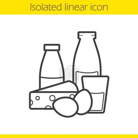 Dairy products linear icon