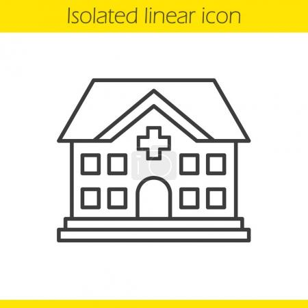 Hospital linear icon