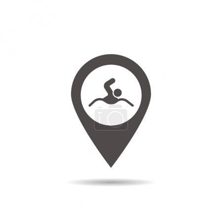 Swimming pool location icon