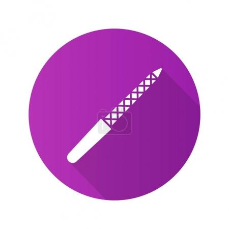 Nail file flat design long shadow icon