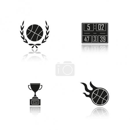 Basketball championship icons set