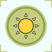 Sun color icon Sunshine Isolated vector illustration