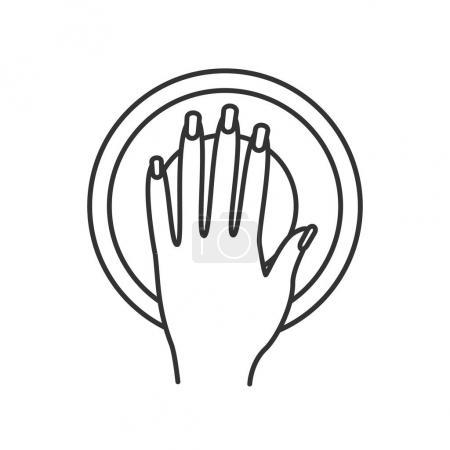 Manicure bowl linear icon