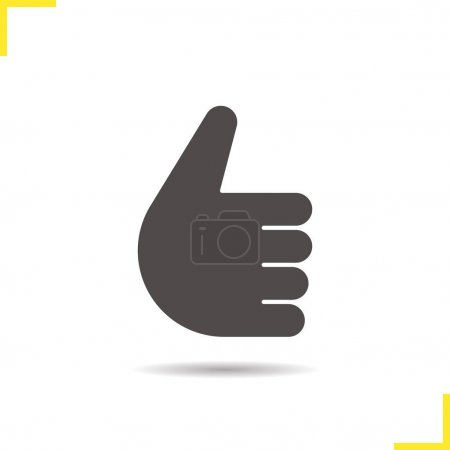 Thumbs up hand gesture icon