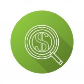 Money search flat icon