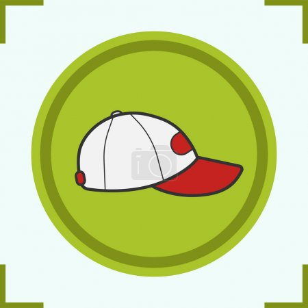 Baseball cap color icon