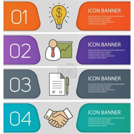 Business banner templates set