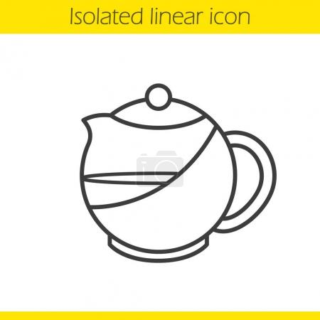 Brewing teapot linear icon
