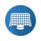 Hockey goal flat  icon