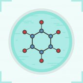 Molecule color icon