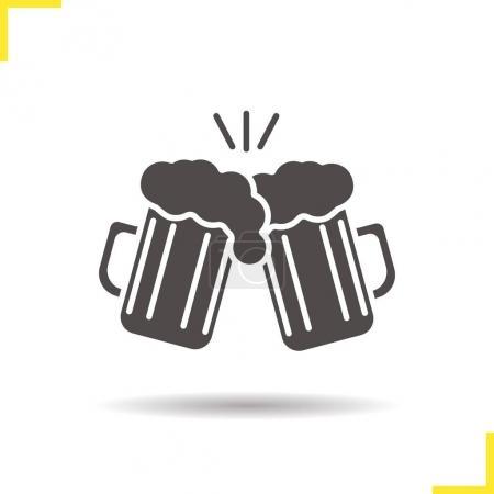 Toasting beer glasses