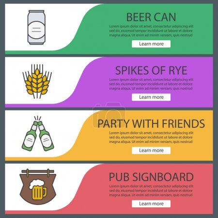 Beer banner templates set