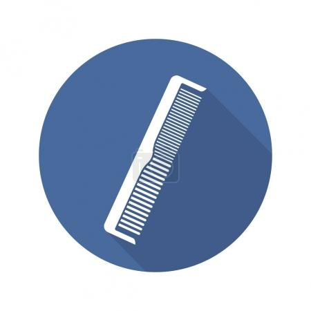 Comb flat design long shadow icon