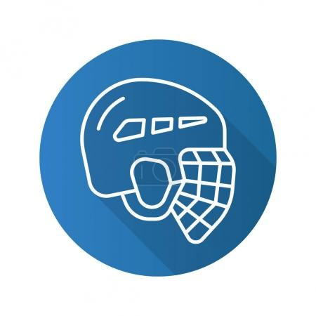 Hockey helmet flat icon