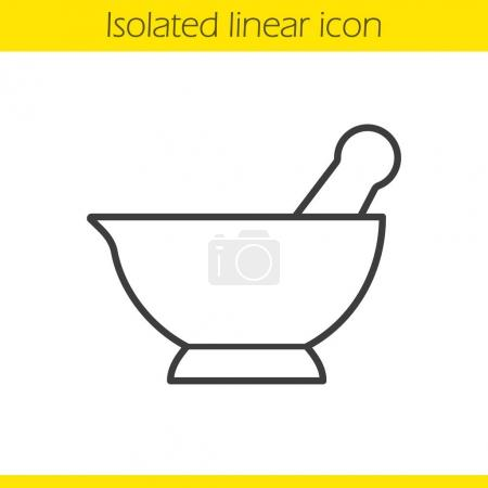 Mortar and pestle linear icon