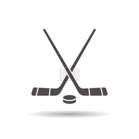 Hockey game equipment icon