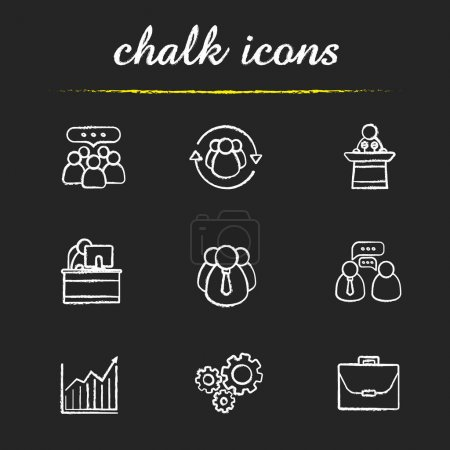 Business and teamwork icons set