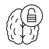 Brain resources revelation linear icon
