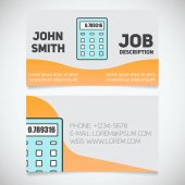 Business card with calculator logo