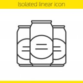 Beer cans icon Thin line illustration Contour symbol Vector isolated drawing