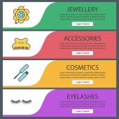 Women's accessories banner templates
