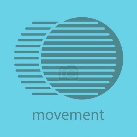 Ilustración de Icono de color de movimiento. Símbolo de la silueta. Concepto dinámico de movimiento. Ilustración de vector aislado - Imagen libre de derechos