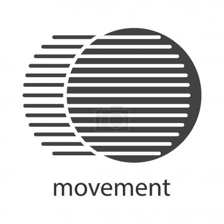 Ilustración de Icono del movimiento. Símbolo de la silueta. Concepto dinámico de movimiento. Ilustración de vector aislado - Imagen libre de derechos