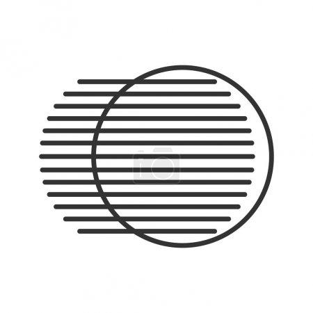 Ilustración de Símbolo lineal del símbolo del movimiento. Ilustración de línea delgada. Símbolo contorno del concepto dinámico de movimiento. Vector aislado croquis - Imagen libre de derechos