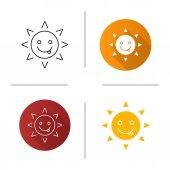 Yummy sun smile icons