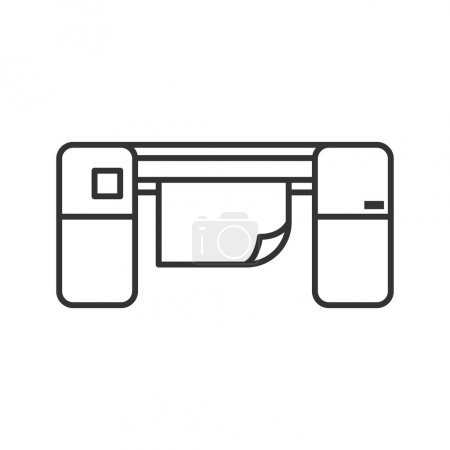 Large format printer linear icon. Thin line illustration. Printing machine. Contour symbol. Vector isolated outline drawing