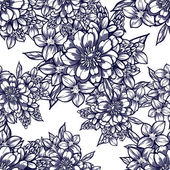 Vector illustration of beautiful floral ornament for postcard