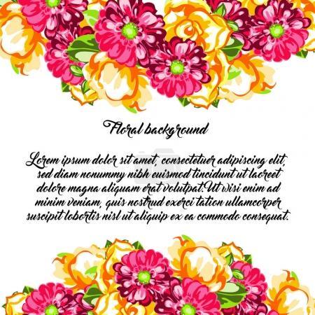 Floral invitation card