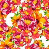 Seamless vintage style flower pattern Floral elements in color