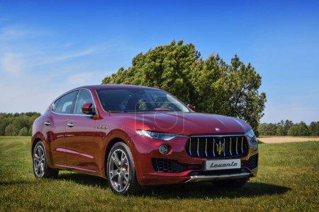 Red Maserati Levante