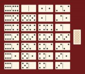 Full set for a game of dominoes Interface top view Vector illustration