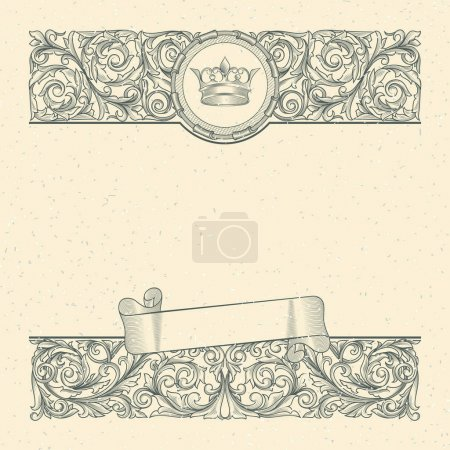 Illustration for Vintage frame with decorative elements - Royalty Free Image