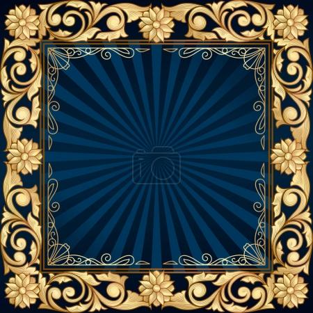 frame with gold floral elements