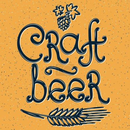 craft beer emblem
